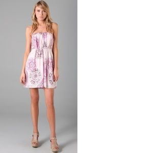 Tibi Multicolor Teja Print Strapless Dress